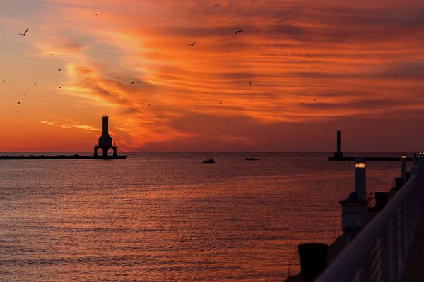 Photograph - Port Washington Marina Sunrise by James Meyer