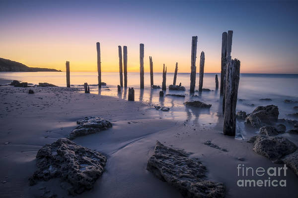 Photograph - Port Willunga Afterglow by Ray Warren