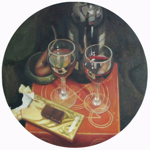 Vino Painting - Port  Wine And Chocolate by Mark Manning