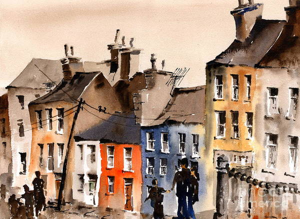 Painting - Portabello, Dublin by Val Byrne