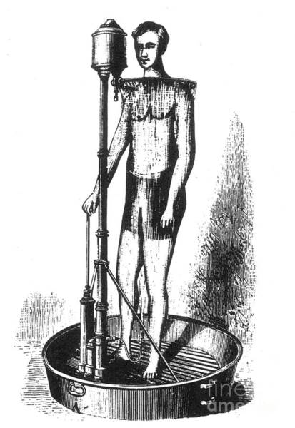 Photograph - Portable Shower Bath 1880 by Science Source