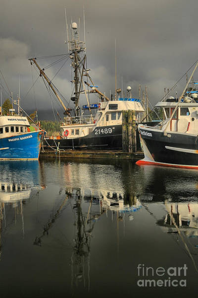 Photograph - Portait Of Ucluelet Fishing Boats by Adam Jewell