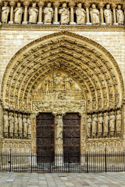 Photograph - Portal Of Last Judgment, Notre Dame, Paris by Kay Brewer