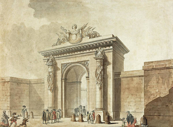 Painting - Portal Of The Hotel D'uzes by Studio of Claude Nicolas Ledoux