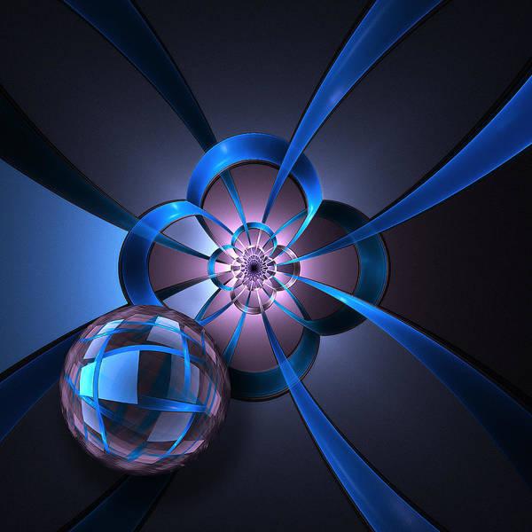 Wall Art - Digital Art - Portal With Blue Glass Ball by Pam Blackstone