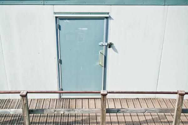 Toilet Photograph - Portcabin Door by Tom Gowanlock