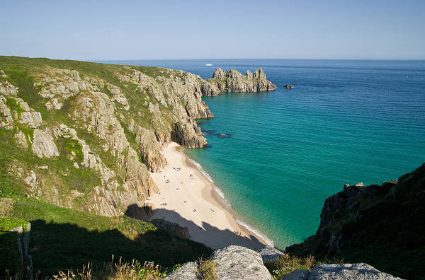 Photograph - Portcurno In West Cornwall by Pete Hemington