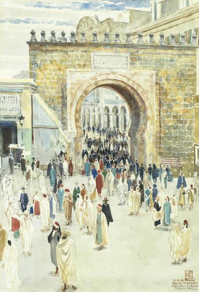 Wall Art - Painting - Porte De France Tunis by Walter Crane