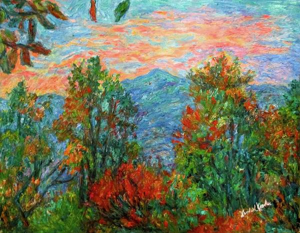 Painting - Porter Mountain In Fall by Kendall Kessler