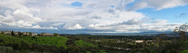 Photograph - Porter Ranch Cloudscape Panorama by Lynn Bauer