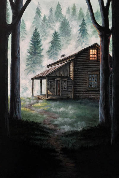 Cabin In The Woods Wall Art - Painting - Porter's Hollow by Rebecca Magar