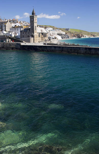 Photograph - Porthleven Harbour Mouth Cornwall Uk by Tony Mills