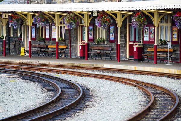 Wall Art - Photograph - Porthmadog Train Station by Svetlana Sewell