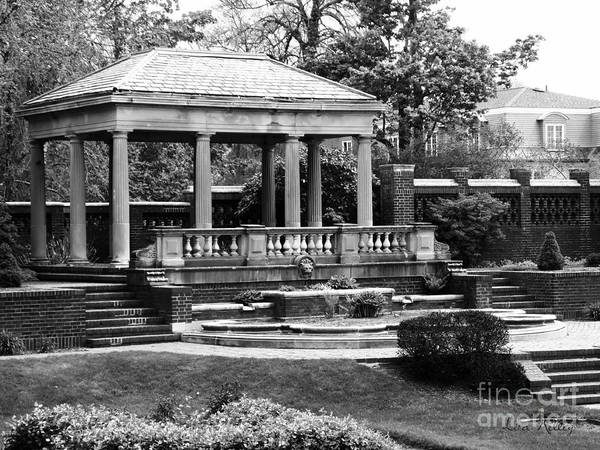 Photograph - Portico At The Rose Garden, David S Lynch Park, Beverly, Massachusetts by Lita Kelley