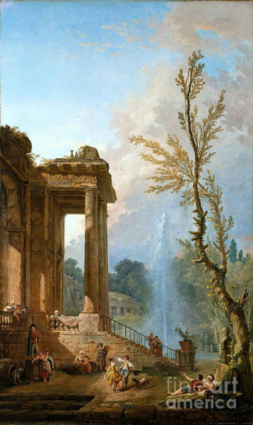 Portico Painting - Portico Country Mansion by Celestial Images