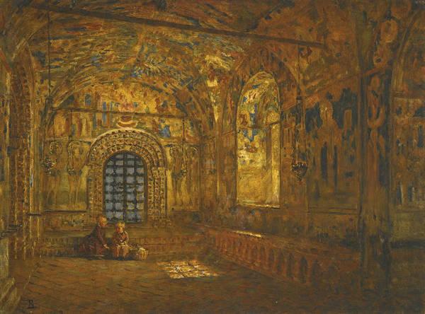Portico Painting - Portico Of A Church by Vasily Vereshchagin