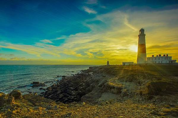 Photograph - Portland Bill Sunset by Joy of Life Art Gallery