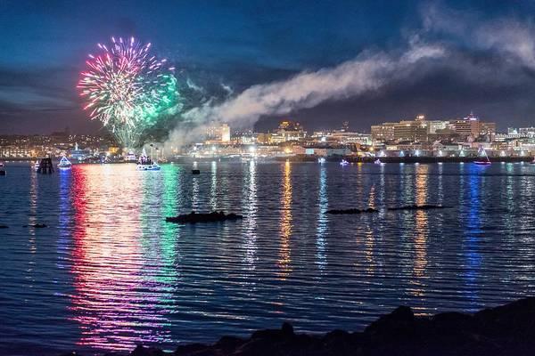 Wall Art - Photograph - Portland Boat Parade Of Lights by Tim Sullivan