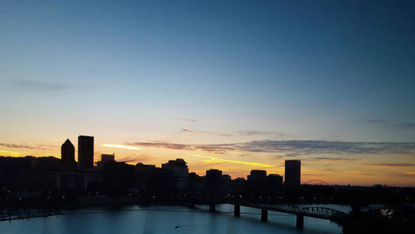 Wall Art - Photograph - Portland Downtown Skyline At Sunset by Art Spectrum