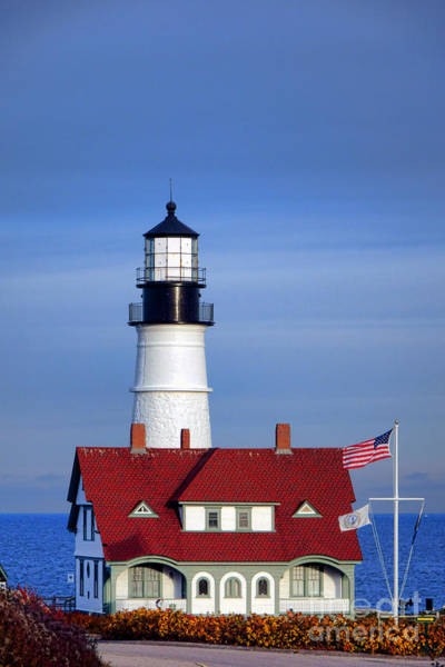 Copyright Wall Art - Photograph - Portland Head Light And Keeper House by Olivier Le Queinec