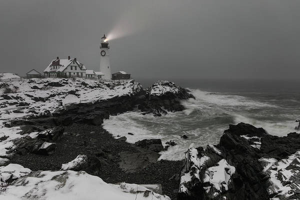 Photograph - Portland Head Light Beacon  by Colin Chase