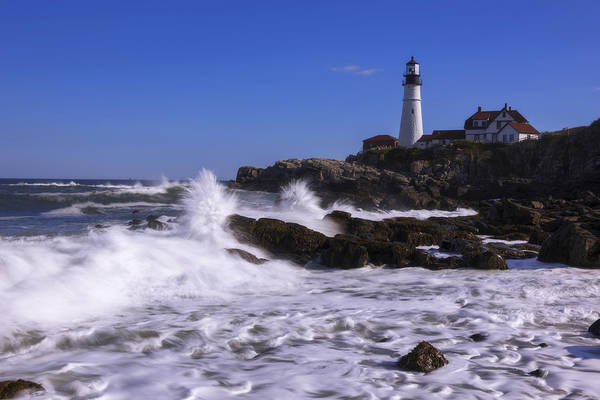 Maine Wall Art - Photograph - Portland Head Light I by Chad Dutson
