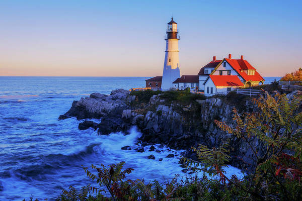 Shore Photograph - Portland Head Light II by Chad Dutson