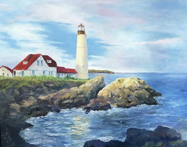 Mccormick Wall Art - Painting - Portland Head Light by ML McCormick