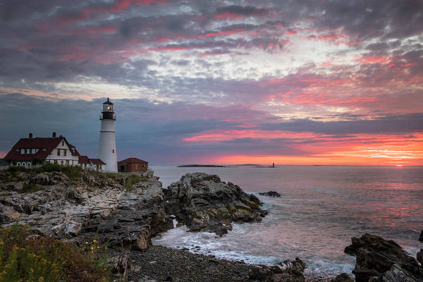 Photograph - Portland Head Light Sunrise by Colin Chase