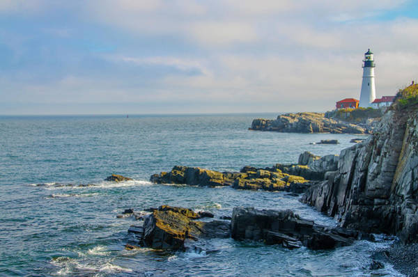 Photograph - Portland Head Lighthouse At Cape Elizabeth Maine by Bill Cannon