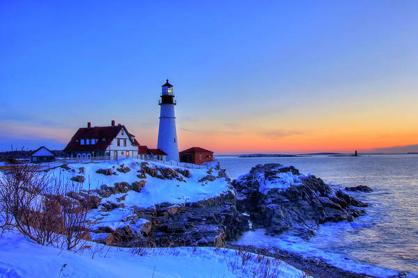 Photograph - Portland Head Lighthouse In Winter by Joann Vitali
