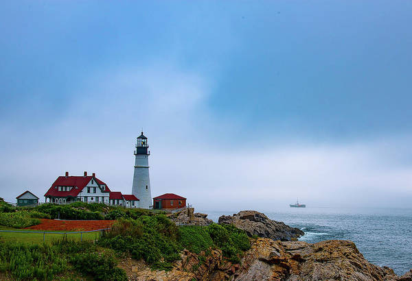 Photograph - Portland Head Lighthouse by John Forde