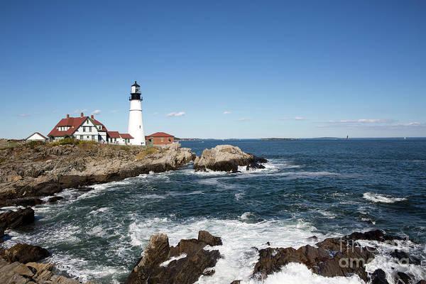 Photograph - Portland Head Lighthouse Maine by Steven Frame