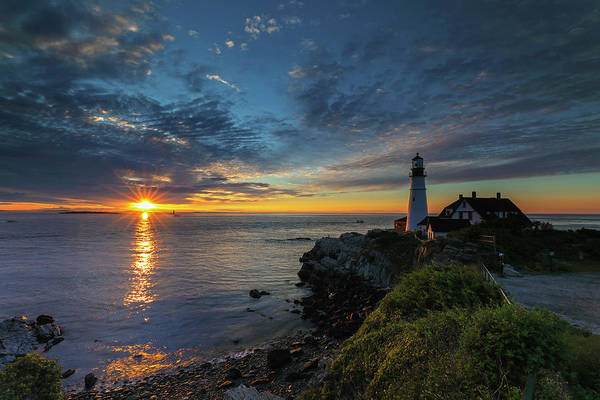 Photograph - Portland Head Lighthouse Maine Sunrise by Juergen Roth