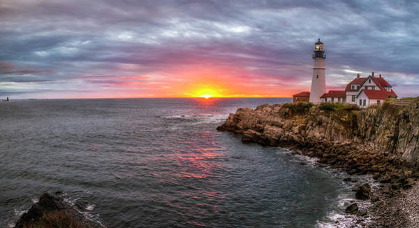 Photograph - Portland Head Lighthouse by Mark Papke