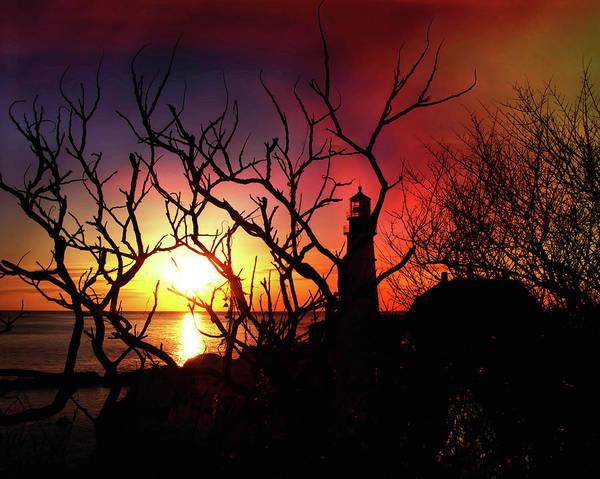 Photograph - Portland Head Lighthouse Silhouette by Joann Vitali