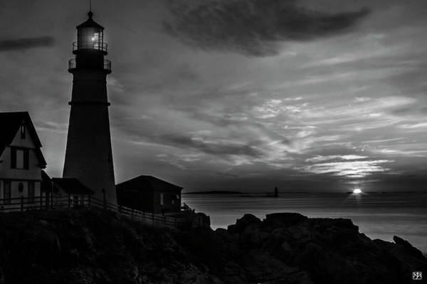 Photograph - Portland Head Noir by John Meader