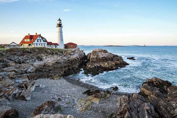 Photograph - Portland Headlight And Ram Island Light by Robert Clifford