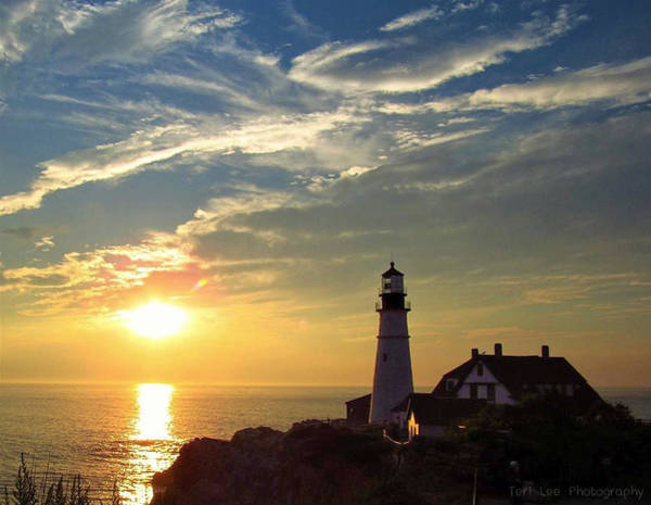 Photograph - Portland Headlight Sunbeam by Teri Ridlon
