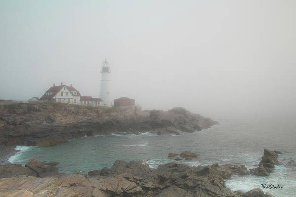 Photograph - Portland Headlight by Tim Kathka