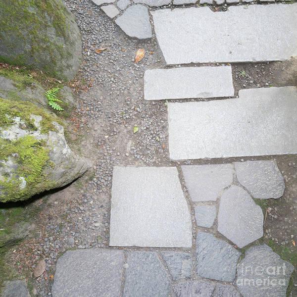 Photograph - Portland Japanese Garden Minimalist Zen Stone Garden Path Art Portland Oregon Dsc6661 by Wingsdomain Art and Photography