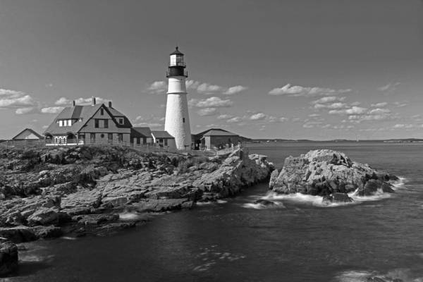 Photograph - Portland Light Of Maine by Juergen Roth