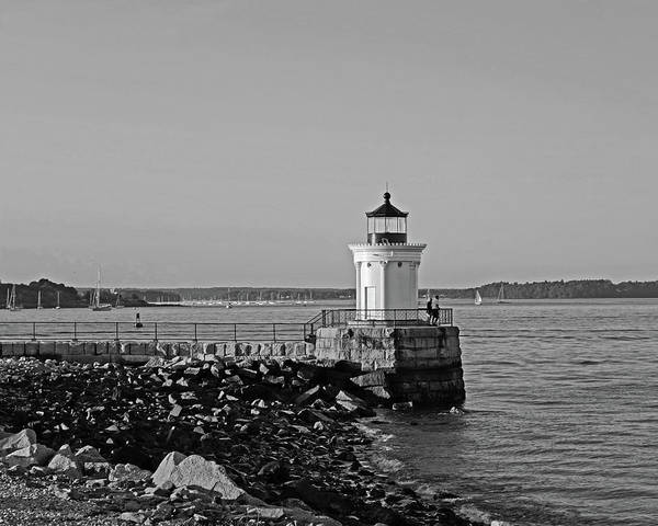 Photograph - Portland Maine Bug Light Park Black And Whtie by Toby McGuire