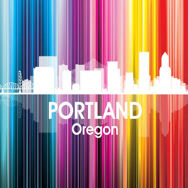 Digital Art - Portland Or 2 Squared by Angelina Tamez
