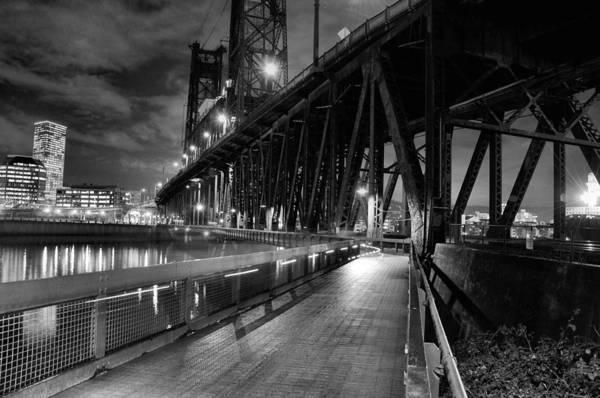 Wall Art - Photograph - Portland Or At Night by Peter Schumacher