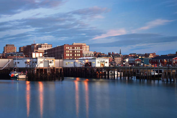 Wall Art - Photograph - Portland Skyline Blue Hour by Eric Gendron