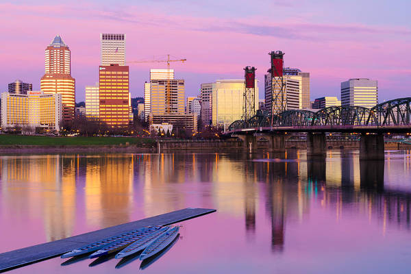 Wall Art - Photograph - Portland Sunrise by Patrick Campbell