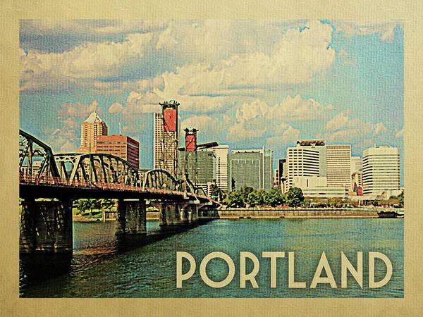Wall Art - Photograph - Portland Travel Poster by Flo Karp