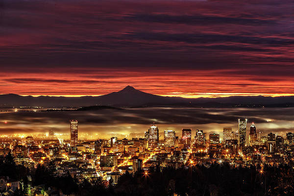 Photograph - Portland Waking Up by Wes and Dotty Weber