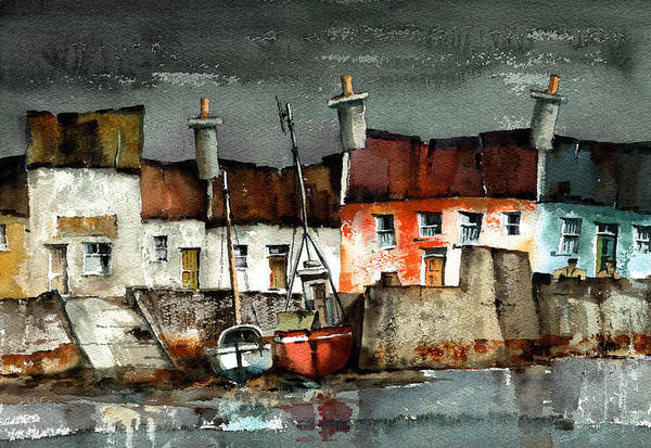 Painting - Portmagee Dusk, Kerry by Val Byrne